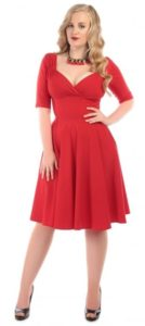 trixie doll swing dress red