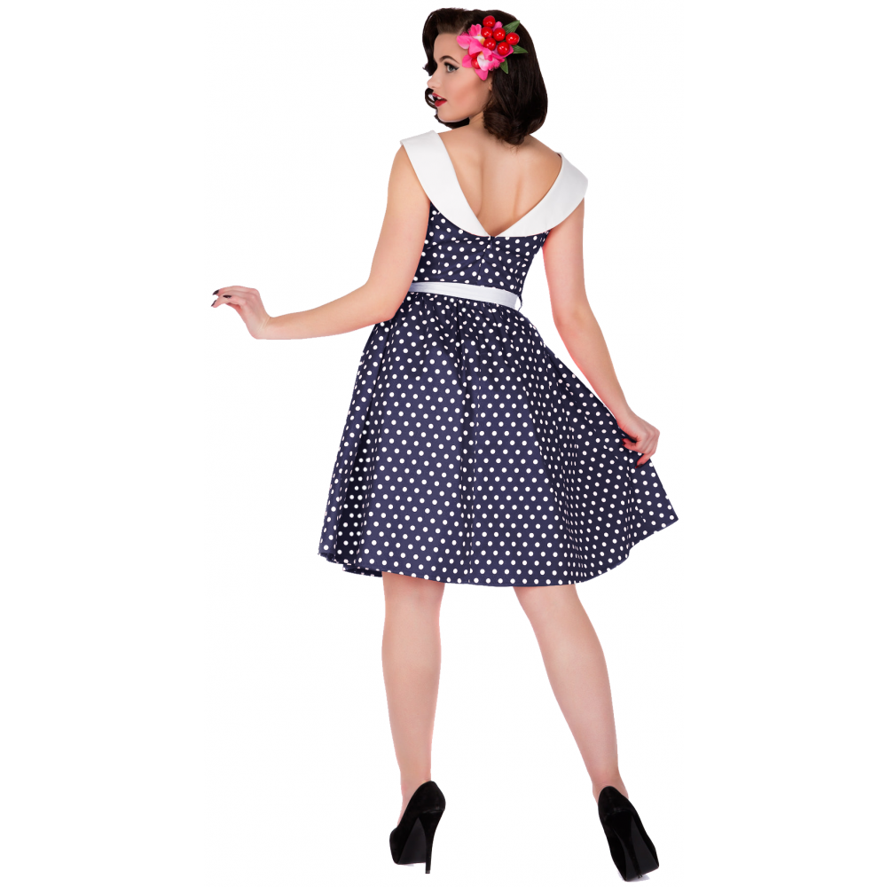 Cindy dark blue polka dot swing