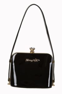 Dark Blooms Handbag in Black