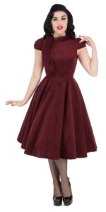 Burgundy desirable dress