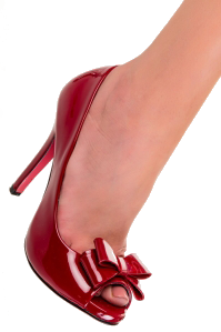 Doris Bow Shoes in Red