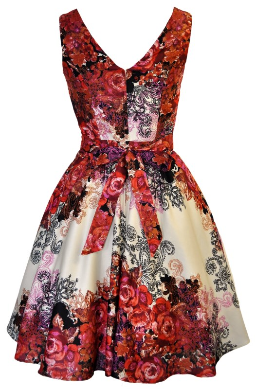 Rose collage dress