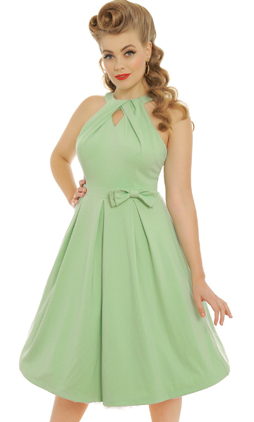 'Cherel' Pastel Green Swing Dress
