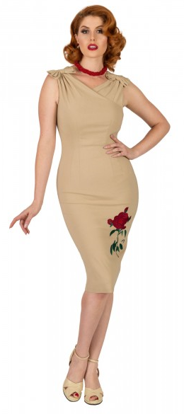 Ambrose Rose Pencil Dress