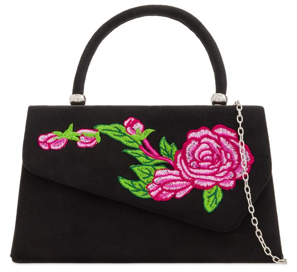 Flower Power 60s Handbag Black