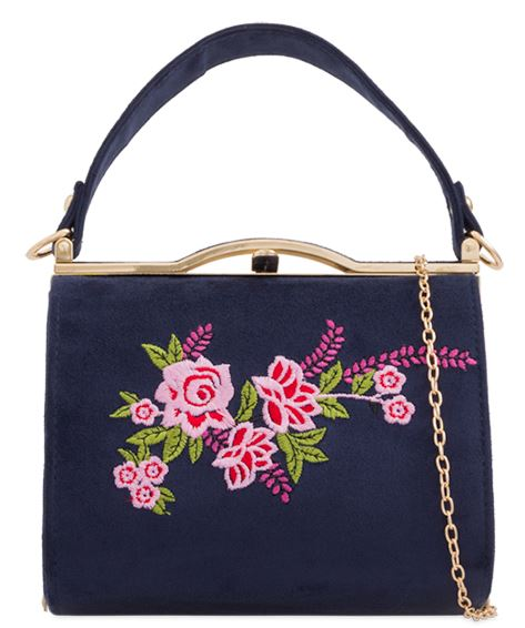 Garden Party 50s Handbag Navy