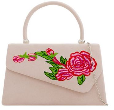 Flower Power 60s Handbag Nude