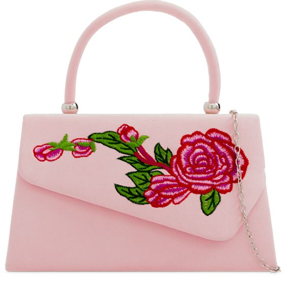 Flower Power 60s Handbag Pink
